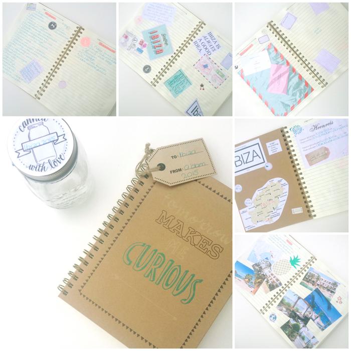 DIY reisdagboek maken