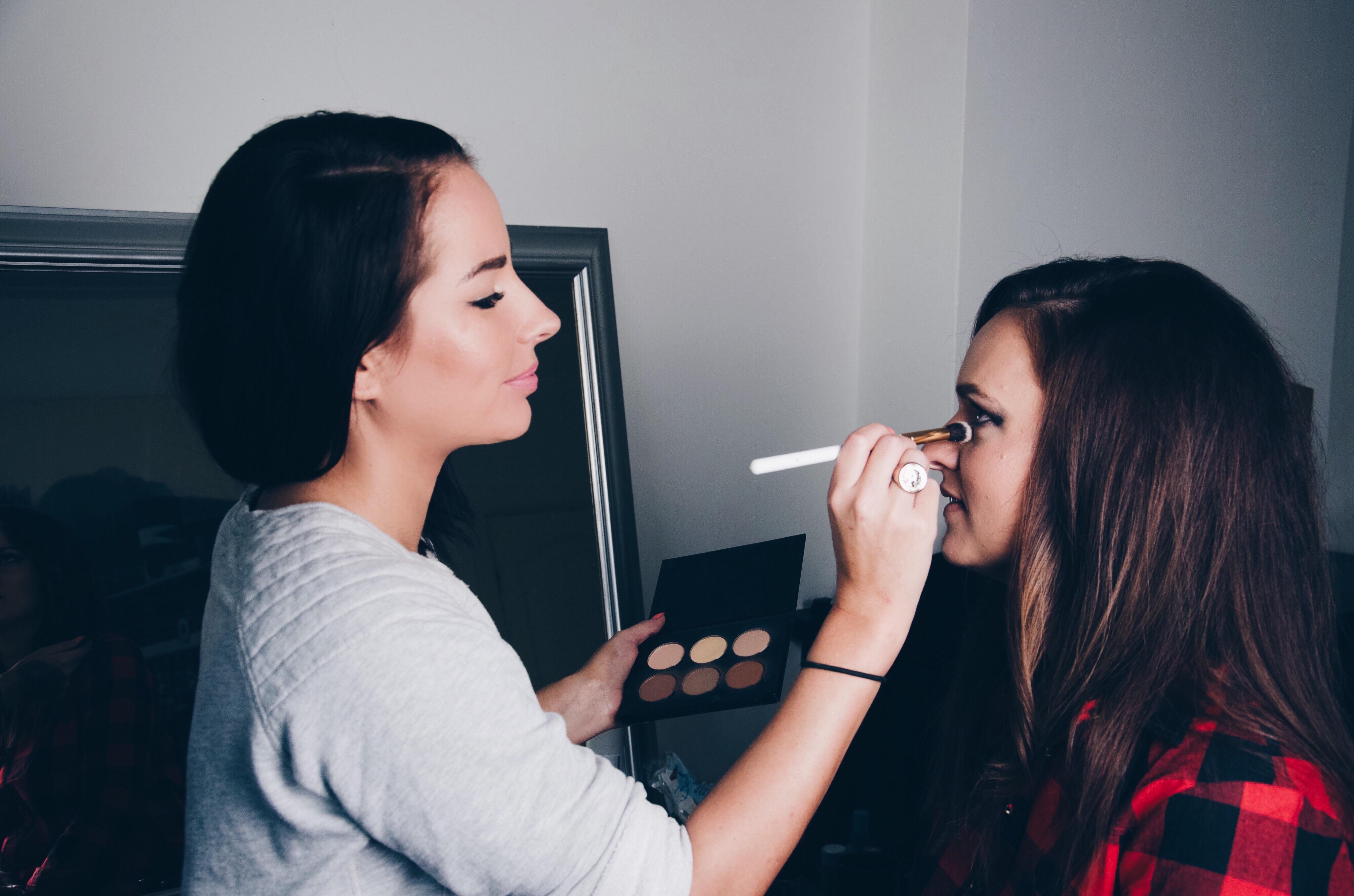 Make up bij Charlotte voor haar gewonnen fotoshoot