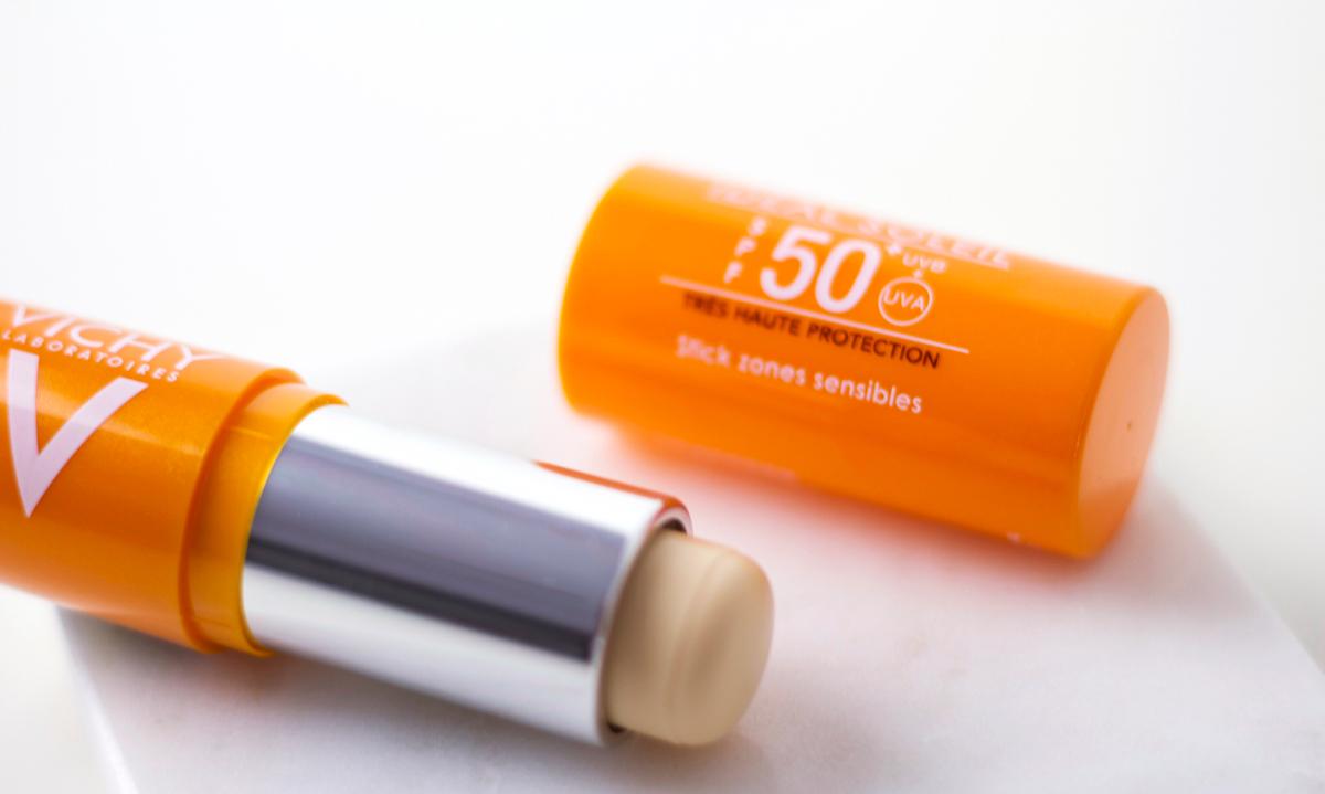 Smeren met de Vichy 50 SPF Stick