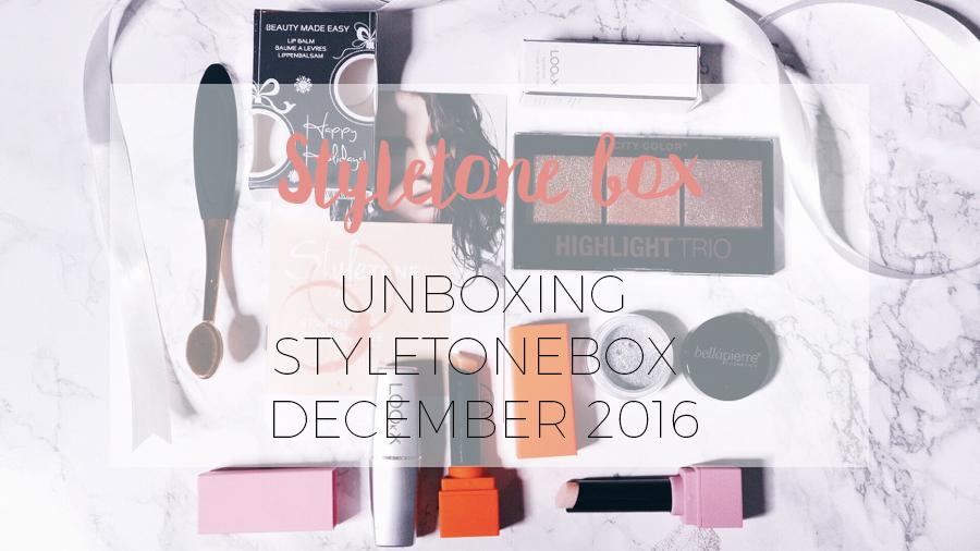 Unboxing Styletone november
