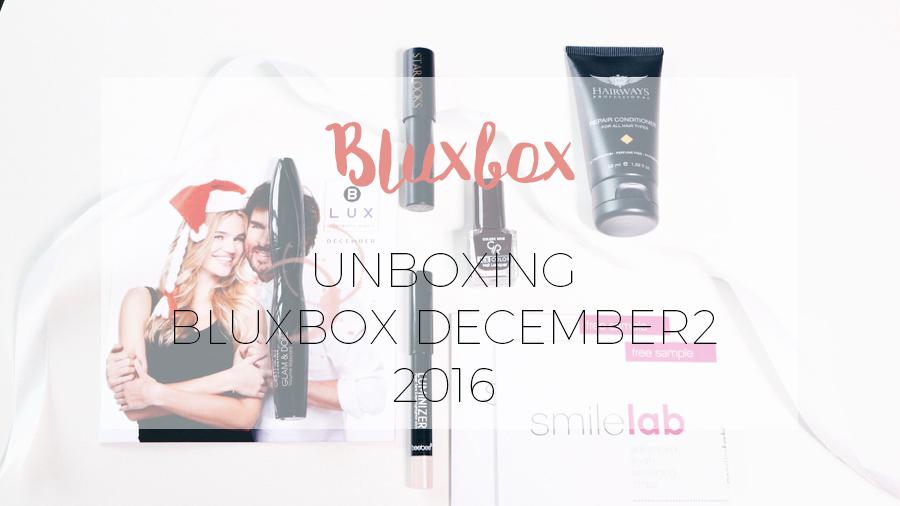 UNBOXING BLUXBOX DECEMBER 2016