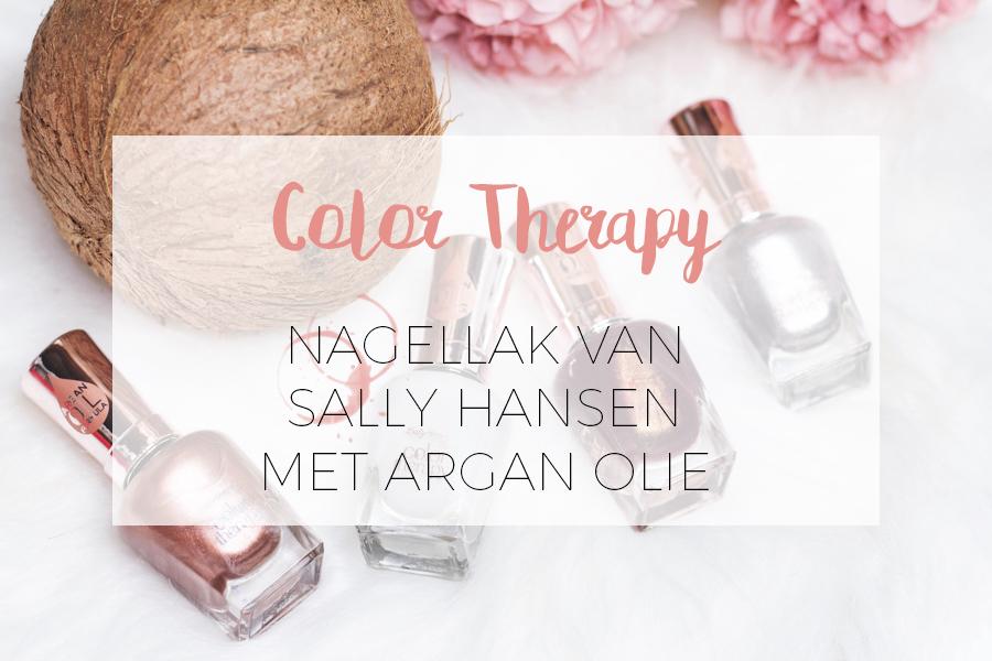 SALLY HANSEN COLOR THERAPY NAGELLAK MET ARGAN OLIE
